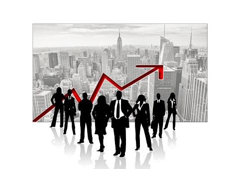 Erfolgreiche Menschen im Business